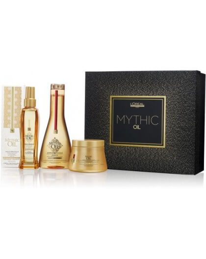 L'oreal Mythic Oil Coffret  Cabelo Secos Grossos 550Ml